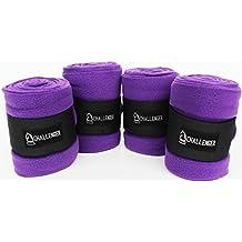 Horse Tack Grooming Leg Protection Polo Wrap Set of 4 Soft Fleece Purple 95R05