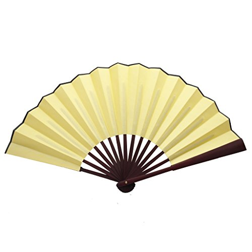 yellow folding fan - 2