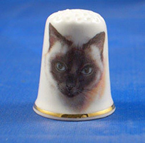 Porcellana Cinese Collezione ditale Gatto siamese