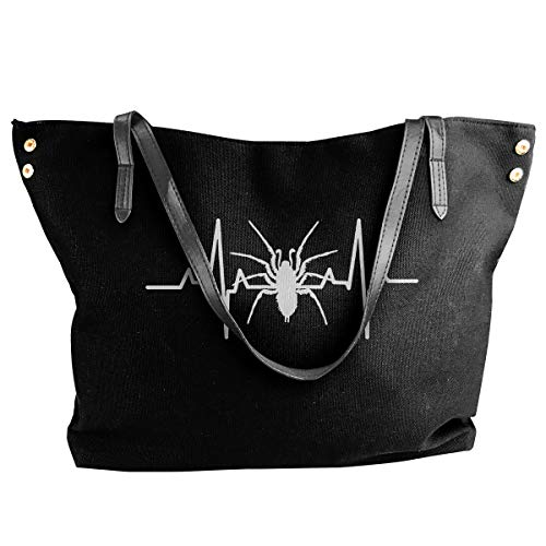 JEFFERYjSPARKS Spider Heartbeat Halloween Women's Fashion Shoulder Bags, Dumpling Bags, Large Capacity Bags