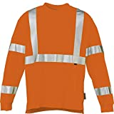 Wolverine Men's Caution Long Sleeve Tee, Hi Vis Orange, X-Large