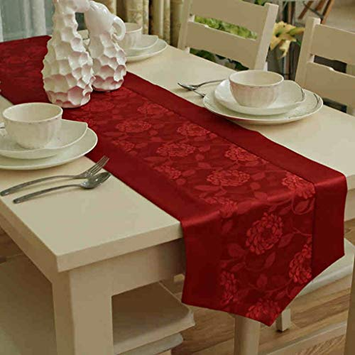 - MKJ001 Table Runner Tablecloth Table Cover European Style Jacquard Waterproof Coffee Table Restaurant Living Room Cover Towel Contemporary Minimalist Wedding Elegant Home Decorative Party Gift, 3