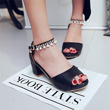 pwne Sandalias De Mujer Zapatos Formales Polipiel Primavera Verano Oficina Informal &Amp; Carrera Parte &Amp; Vestido De Noche Formal Imitación Shoesrhinestone US8 / EU39 / UK6 / CN39
