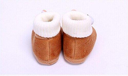 Tefamore Zapatos Bebe De Primeros Pasos Calzado De Estilo Lindo Conejo Pequeñas Botas Para Primeros Caminantes Marrón