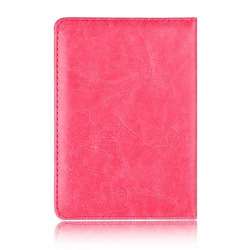 Lieja Copertura Unisex Stampa Passaporto Medium Bi Nero fold Portafogli Red Rose Fashion Square rgrxdqO
