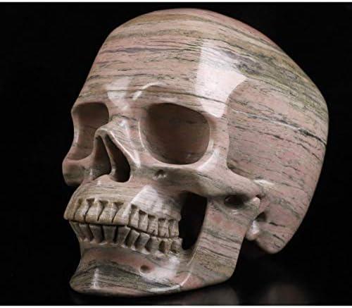 Skullis 5.0インチ ピンクとブラック ロードナイト 数量限定  超リアルなクリスタル スカル 2020新作 手彫り ファインアート ストーン レイキ 彫刻 像 ヒーリング 宝石