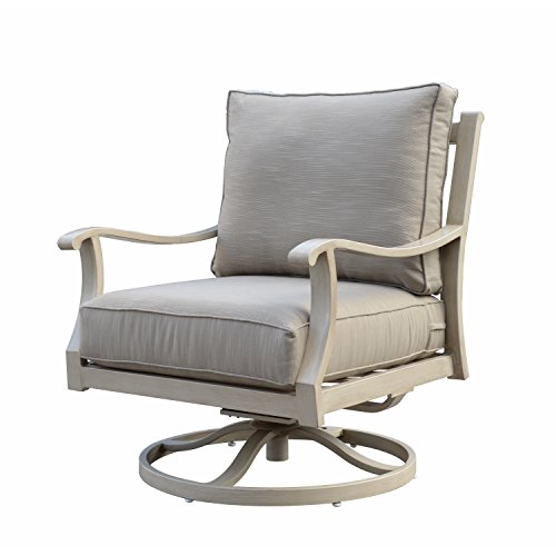 Aluminum Deck Furniture (Courtyard Casual Camel Torino Aluminum Outdoor Swivel Glider Club Chair)