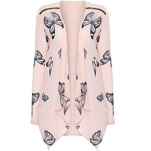 Women Bikini Cover Up Boho Chiffon Floral Print Coat Tops Suit Kimono Cover Fashion Smock (Asian XXL = US XL, Beige)