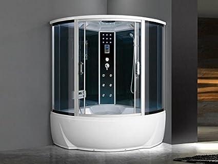 Cabina idromassaggio getti con vasca box doccia