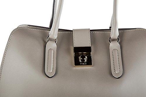 Furla borsa donna a mano shopping in pelle nuova milano grigio