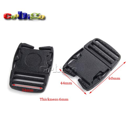 Buckes - 100pcs Pack 1-3/8''(34mm) Detach Buckle for Outdoor Sports Bags Students Bags Luggage #FLC365-35