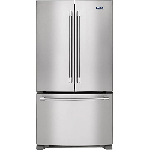 Maytag MFC2062DEM 20.0 Cu. Ft. Stainless Steel Counter Depth French Door Refrigerator - Energy Star by Maytag