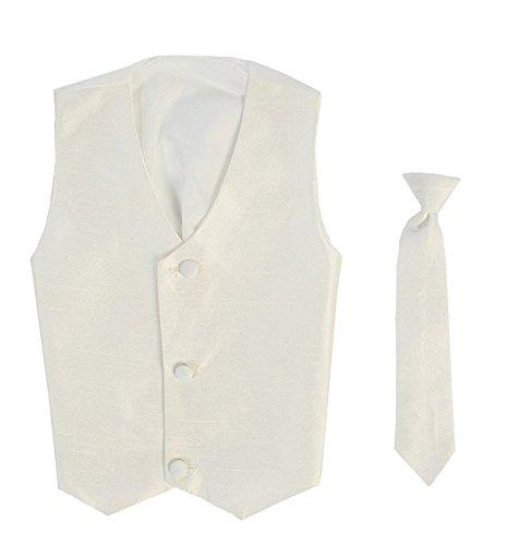 (Vest and Clip On Boy Necktie set - IVORY - 6/7)