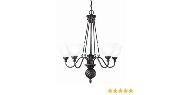 Thomas Lighting Sl819123 Cambridge Chandelier Colonial Bronze Amazon Com