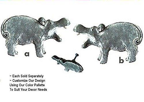 Hippo Hippopotamus Safari Animal Cabinet Drawer Knobs Pulls Noah's Ark Theme Decor - Noahs Ark Knob
