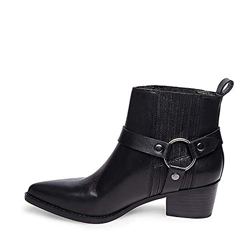 Powerful Women's Bootie Madden Leather Black 8 Casual Steve Us vZBwAqA