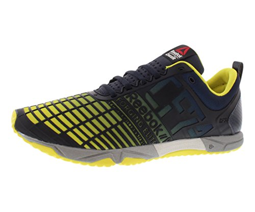 Reebok Men's Crossfit Sprint tr-m, Navy/Stinger Yellow/Metallic Silver, 8 M US
