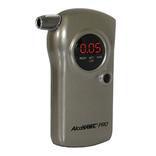 (AlcoHAWK PRO: Professional Edition Digital Breathalyzer Alcohol Detector)