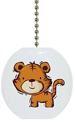 - Kids Tiger Solid Ceramic Fan Pull