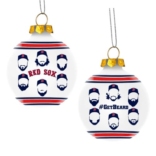 FOCO Boston Red Sox Players Glass Ball Ornament - Get Beard - Nfl Glass Player Ornament