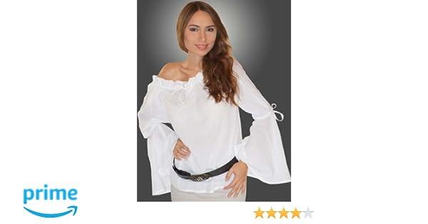 Maylynn 13710 - Blusa medieval Elena de algodón puro blanca: Amazon.es: Juguetes y juegos