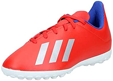 Adidas X 18.4 TF J Boy's Shoes, Multicolour (Active Red/Silver Met./Bold Blue), 13.5 UK (32 EU),BB9417