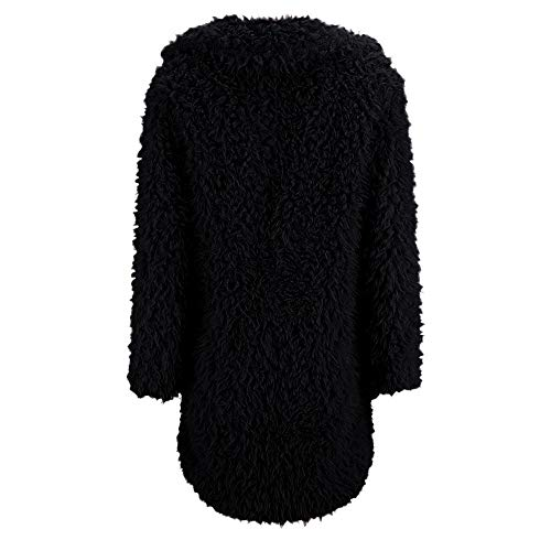 Manica ❤ Cardigan Outwear Lana Invernale Moda Autunno Sintetica Donna Inverno Pelliccia Di Lunga Corto Casuale Vicgrey Cappotto Nero Giacca Pullover Parka 7w6AA