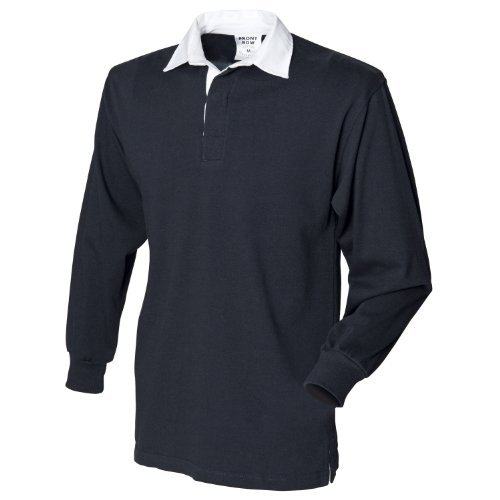 Front Row Long sleeve original rugby shirt Black* - Uk Row The