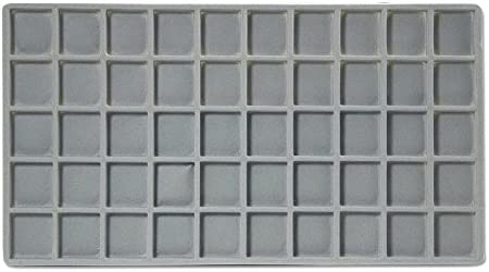 Flocked Insert 5×10 Grey Tray Inserts Jewelry Display