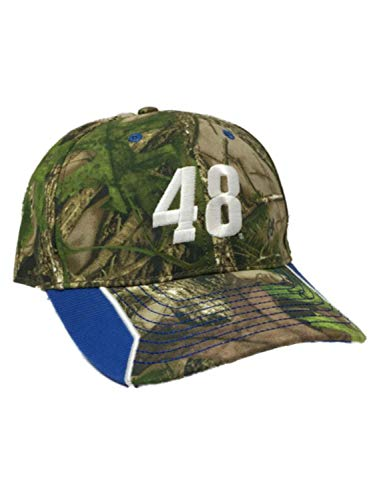 (Nascar Racing Mens Jimmie Johnson #48 Green Camo Baseball Cap Hat Camouflage )