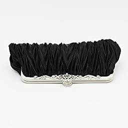 Kingluck Silk Cocktail Evening Handbags/ Clutches in Gorgeous Silk More Colors Availabl (black)