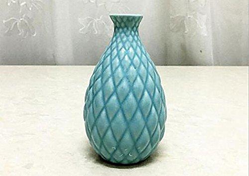 Vera Lotus Accent (mk. park - Home Ceramic Pottery Pineapple Flower Pot Plant Office Mini Size Vase Ornaments (Blue))