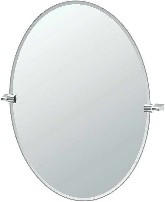 Gatco 4379LG Bleu, Large Oval Mirror