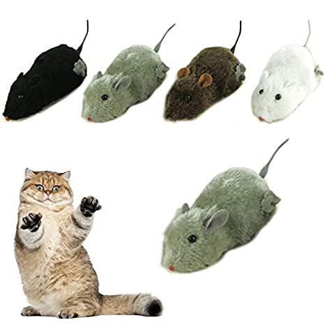 Rat Toy - Wireless Winding Mechanism Mouse Toy Rat Mechanical Motion Rats Cat Toys Interactive Juguete
