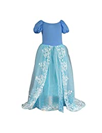 OCEAN-STORE Girls Outfit Fancy Swallowtail Princess Costume Cosplay Fairy Party Prom Dress