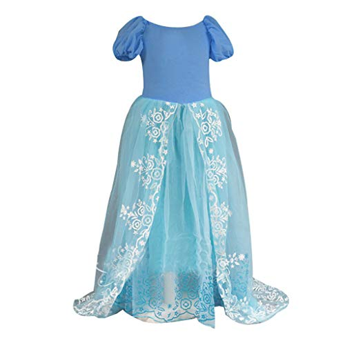 ❤️ Mealeaf ❤️ Kids Girls Party Outfit Fancy Dress Princess Costume Cosplay Fairy Dress(2-8 Years )