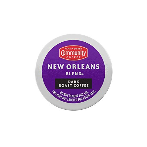 Community Coffee New Orleans Blend 36 Count Coffee Pods, Dark Roast, Compatible with Keurig 2.0 K-Cup Brewers (12 Count…