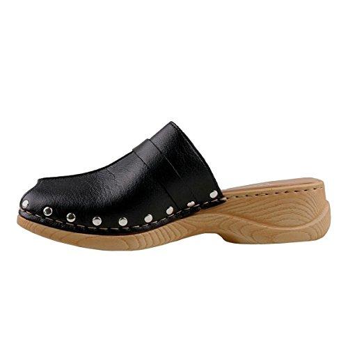 Rieker Women's Clogs Black Black BnZhs0APk