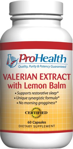 Extrait de valériane avec Mélisse (160 mg, 60 capsules) de ProHealth