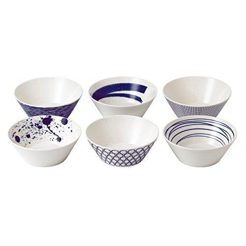 Royal Doulton 40019363 Pacific Mixed Patterns Bowls , 6.2, Multiple ,(Set of 6)