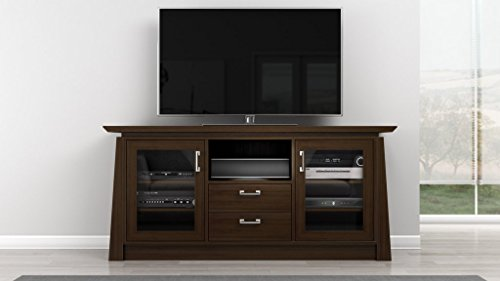 Furnitech 70 inch Contemporary Asian Console with Tapered Legs. (Chocolate Cherry Finish) ()