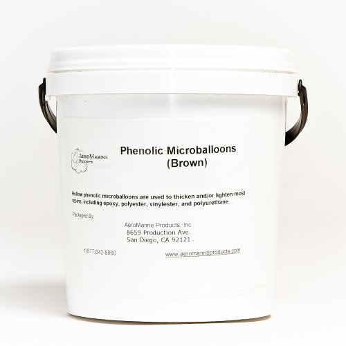Resin Epoxy Polyester (Phenolic Microballoons filler for epoxy and polyester resins 1/2 gallon)