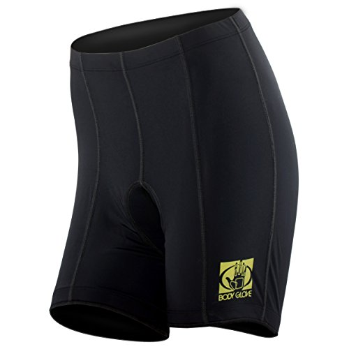 Body Glove Women's Pro Comfort 8-panel Cycling Short, X-Large, Black