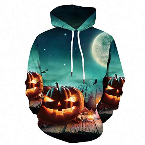 Norths Halloween Costumes - wuliLINL Unisex 3D Print Pullover Long