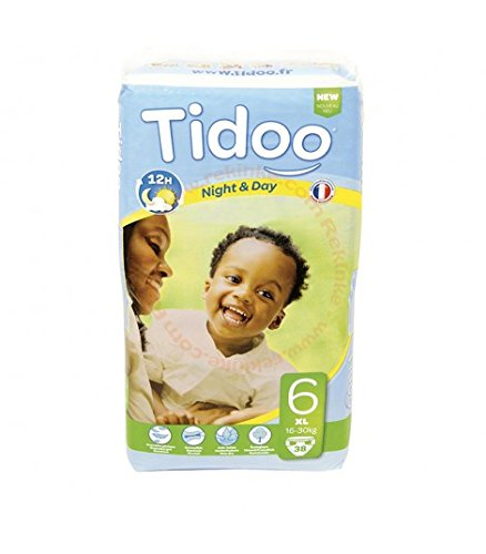 38 Disposable Night & Day Nappies - Size 6 XL 16-30kg Tidoo 9465123