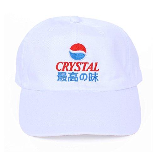 Crystal Pepsi Japanese 6 Panel Dad Hat Cap White (Pepsi Japanese)