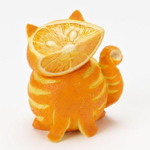 Homegrown Enesco Fruit (Home Grown from Enesco Orange Tabby Cat Figurine 3.2 IN)