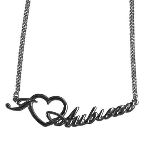 (aminco Auburn Tigers Heart Script Necklace)