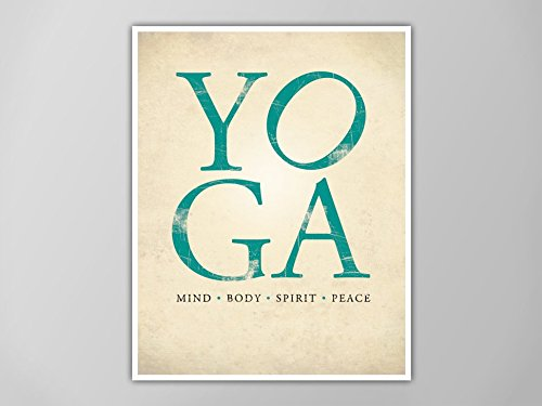 Amazon.com: Love Yoga Print, Yoga Art Print, Yoga Decor ...