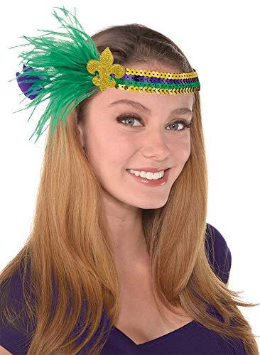 Mardi Gras Fleur De Lis Headband]()